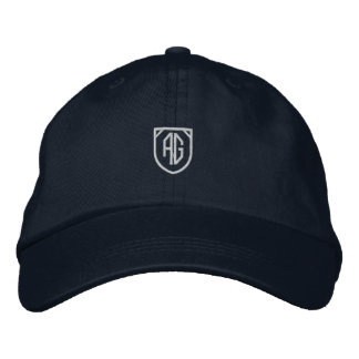 AMIOT GALLERY NAVY HAT EMBROIDERED HAT