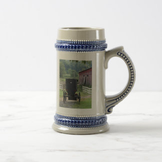 Amish Buggie - Holmes Co OH Beer Stein
