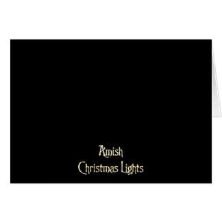 Amish Christmas Lights Card