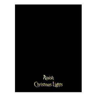 Amish Christmas Lights Postcard