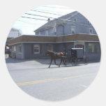 Amish Community Round Stickers