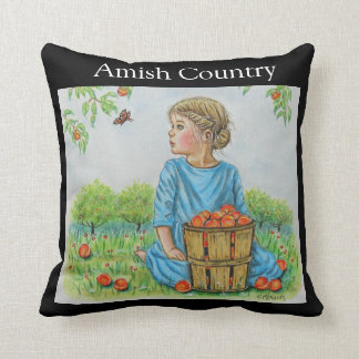 Amish Country Anna In The Orchard Pillow