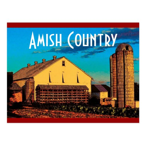 Amish Country Postcard - Customised