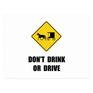 Amish Drink Postcard