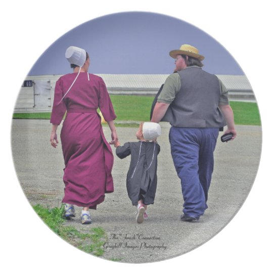 Amish Family Plate