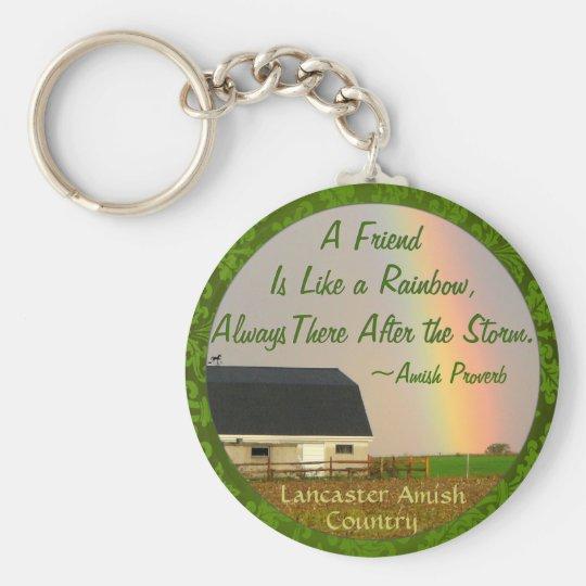 Amish Friendship proverb Keychain! Basic Round Button Key Ring