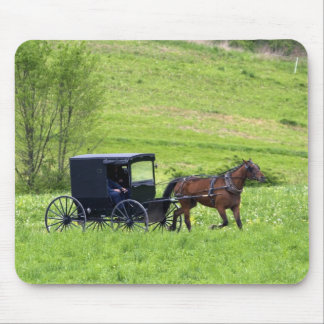 Amish horse and buggy near Berlin, Ohio. Mouse Mat