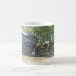 Amish Horse Basic White Mug