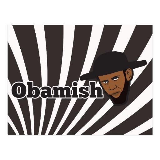 Amish Obama Post Card