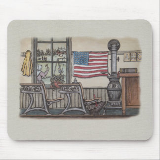 Amish One Room School Room Mouse Pad