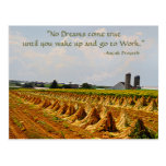 Amish Postcard. Proverb. Dreams. Work Postcard 2