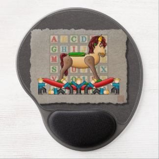 Amish Rocking Horse Gel Mouse Pad