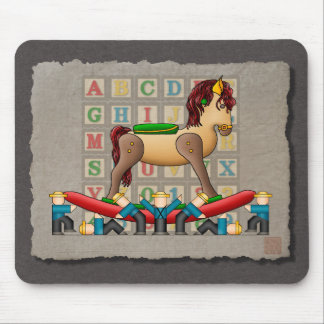 Amish Rocking Horse Mouse Pads