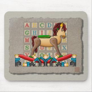 Amish Rocking Horse Mouse Pad
