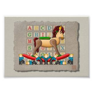 Amish Rocking Horse Photo