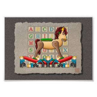Amish Rocking Horse Photo Print