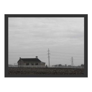 Amish Schoolhouse Postcard