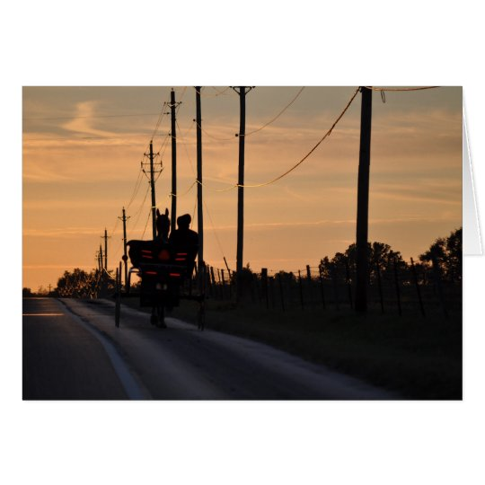 Amish Sunset Silhouette Card