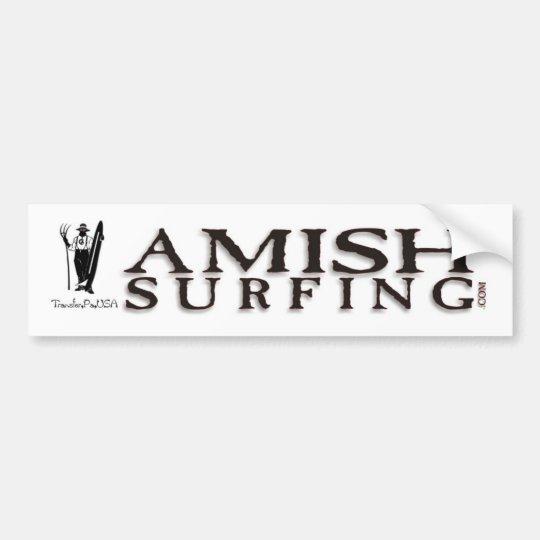 Amish Surfing Bumper Sticker