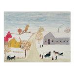 Amish Village Postcard