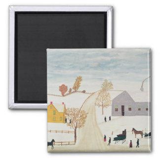 Amish Village Square Magnet