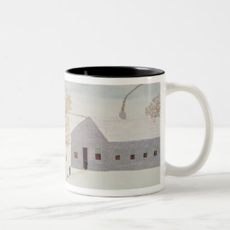 Amish Village Two-Tone Coffee Mug
