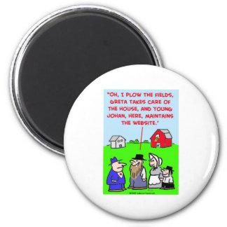 amish website refrigerator magnet