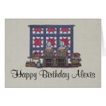 Amish Women Quilting Greeting Card