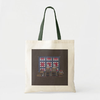 Amish Women Quilting Tote Bag