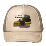 Amish You Drive Me Buggie Truckers Hat. Cap