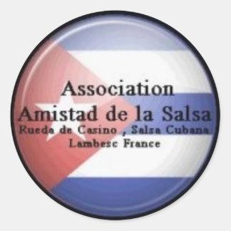 Amistad sticker of the Salsa melts Cuba flag