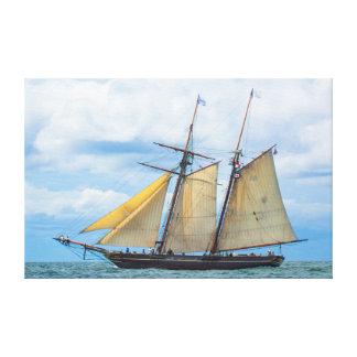 Amistad Under Sail Canvas Print