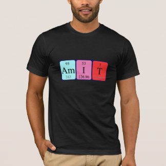 Amit periodic table name shirt
