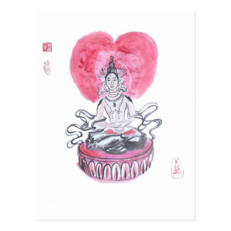 Amitabha Buddha Heart Postcard