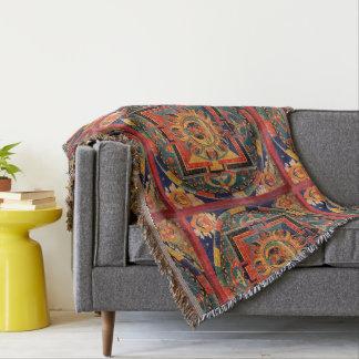 Amitayus Mandala Thangka Throw Blanket