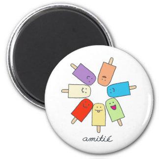 Amitié 6 Cm Round Magnet