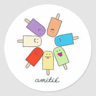Amitié Round Sticker