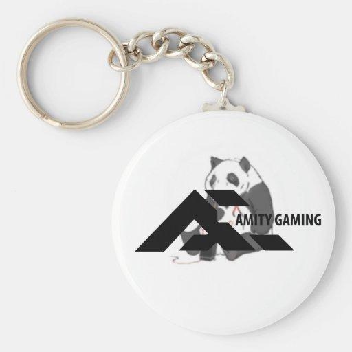 aMity Gaming Black Keychain Pickles White