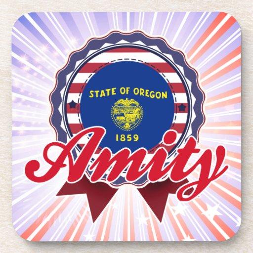 Amity, OR Beverage Coasters
