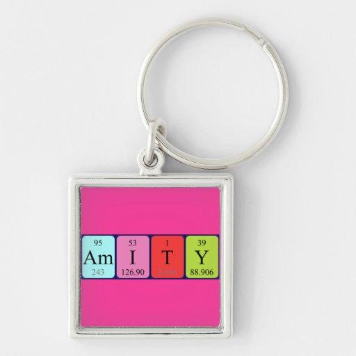 Amity periodic table name keyring key chain