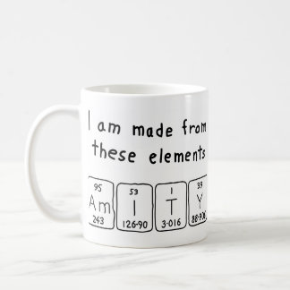Amity periodic table name mug