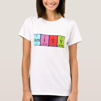 Amity periodic table name shirt