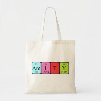 Amity periodic table name tote bag