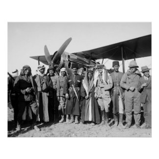 Amman Jordan Biplane 1921 Posters