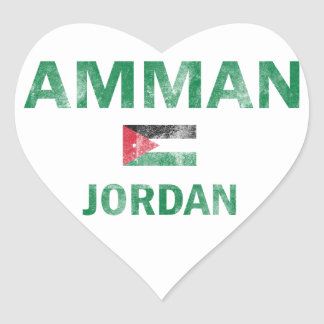 Amman Jordan Designs Heart Sticker