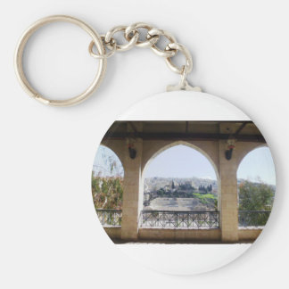 Amman Theater View Basic Round Button Key Ring