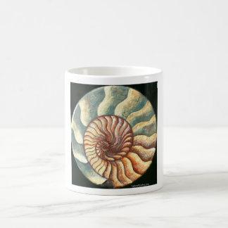 Ammonite Fossil Art Mug