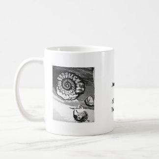 Ammonite Fossil Cup Basic White Mug