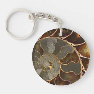 Ammonite Key Ring