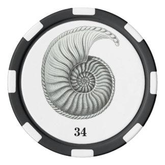 Ammonite Set Of Poker Chips